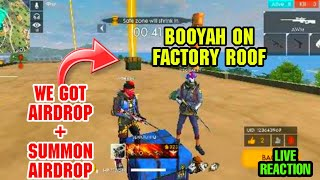 WE GOT A AIRDROP ON FACTORY ROOF INSANE BOOYAH WITH AWN AND GROZA TOTAL 15 KILLS || GARENA FREEFIRE