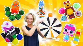 Video für Kinder. 2 Folgen aus Nicoles Spielzeug Kindergarten. Wir lernen Zahlen, Farben und Formen