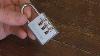 How to Reset the Combination to a 3 Digit Master Lock