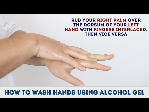 How To Wash Hands Using Alcohol Gel