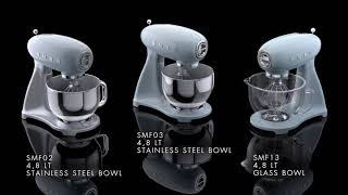 SMEG Keukenmachine Zwart SMF02BLEU