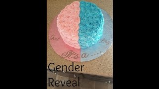 Gender Reveal Cake! Boy Or Girl!