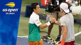 Kei Nishikori Returns to 2018 US Open Action With Win Over Maximilian Marterer