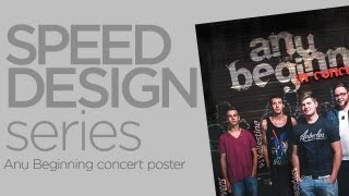 Speed Design Series: Lapse Time Graphic Design Of A Concert Poster