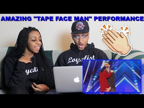 Couple Reacts : Tape Face Man Leaves the Audience Speechless on AGT Reaction!! (видео)