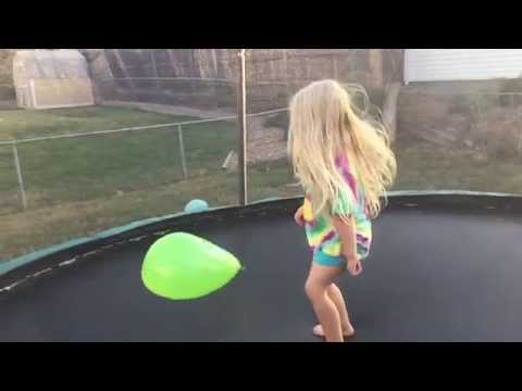 when Bouncing in slow-mo with a Water Balloon