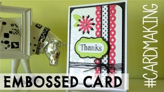 Embossed card - Tarjeta fantasia brillo-mate