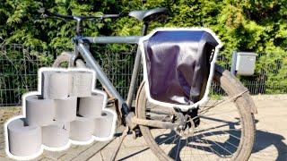 Van Moof Electrified S2 - Fahrradtasche: Wie viele Rollen Klopapier passen rein?