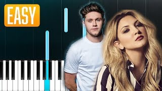 Julia Michaels   What A Time Ft. Niall Horan 100% EASY PIANO TUTORIAL