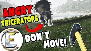 ME VS ANGRY TRICERATOPS!   Virtual Reality Dinosaur Survival Game (Island 359)