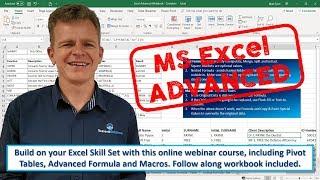 Excel Advanced Webinar - Session 1 (4 Oct '19)