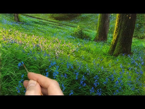#134 How to Paint A Bluebell Scene