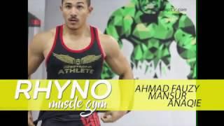 RHYNO MUSCLE GYM: Ahmad Fauzy / Mansur / Anaqie Training