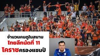 EP 2 : จำนวนคนดูในสนามไทยลีกนัดที่ 11 โคราชครองแชมป์