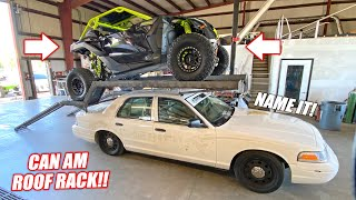 We Put the World's Most Ridiculous ROOF RACK on a Crown Vic!!! Introducing McFarland Engineering!