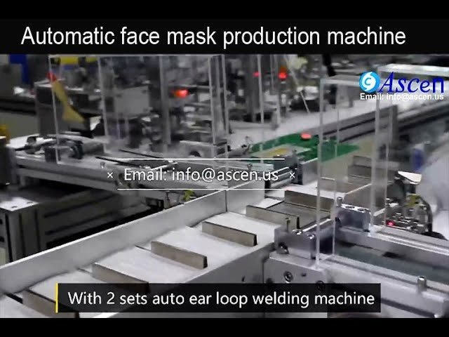 disposable medical face mask production machine