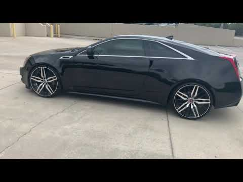 "2011 Cadillac CTS COUPE on 22"" wheels"