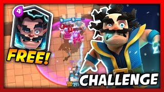 GET A FREE ELECTRO WIZARD LEGENDARY!?! ELECTRO WIZARD CHALLENGE! | Clash Royale