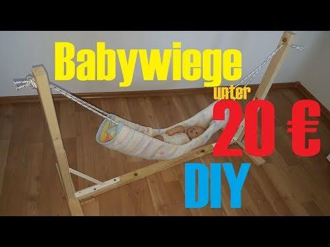 Babywiege unter 20 € ganz einfach selber machen - simple baby cradle diy