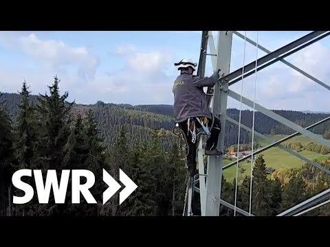 Mit der Gefahr am Seil  - Der Industriekletterer   Mensch Leute BW