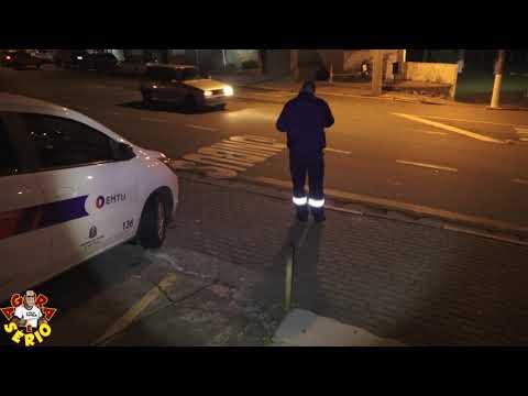 Fiscalização da EMTU nesta noite de quarta – feira em Juquitiba na entrada da Cidade