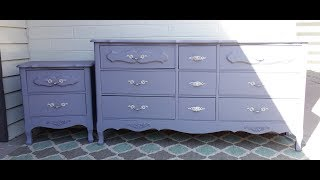 How To Redo: Furniture Makeover: French Dresser And Nightstand