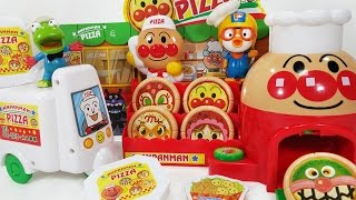 호빵맨 택배 피자 가게 호빵맨 오토바이로 배달하는 뽀로로 크롱 장난감 Anpanman motorcycle Delivery Pizza shop pororo toys play