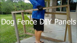 DIY Dog Fence Panels! Simple Set-up! No Digging!
