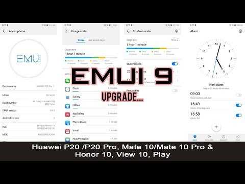 EMUI 9 Android 9 Pie, downloading on Huawei P20, P20 Pro and Mate 10