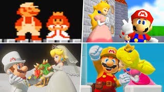 Evolution of Super Mario Endings (1985 - 2019)