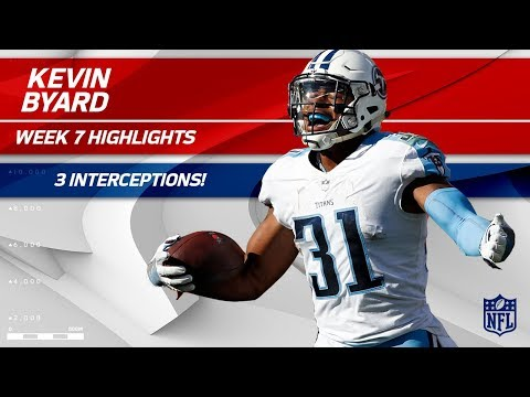 Kevin Byard Gets a Hat Trick: 3 INTs Against Cleveland! | Titans vs. Browns | Wk 7 Player Highlights