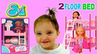 Набор кукол Evi Love 2 Floor Bed Toys Unpacking Set Of Dolls