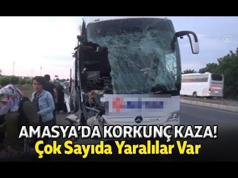 Amasya'da Korkunç Kaza! Çok Sayıda Yaralı