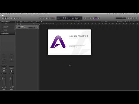Apogee Duet - How to begin recording in Logic Pro X