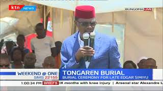 The burial ceremony of the late Edgar Simiyu underway