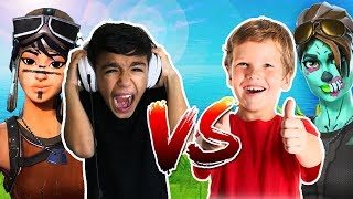 Trash Talker Makes Little Brother RAGE Quit In Fortnite! Hilarious Fortnite 1v1!