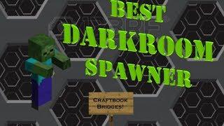BEST DARKROOM SPAWNER for Craftbook Minecraft! Mob Grinder Tutorial... Level your MCMMO!