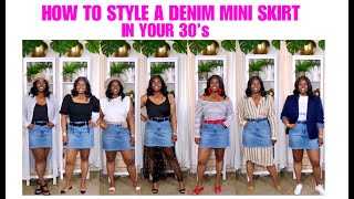 HOW TO STYLE A DENIM MINI SKIRT IN YOUR 30s AND UP