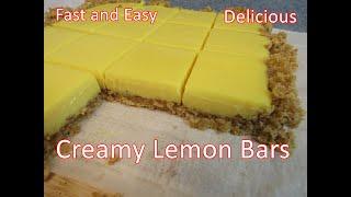 Creamy Lemon Bars   |  Fast And Easy Recipe  |  Delicious