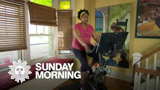 Sweating at home with Peloton