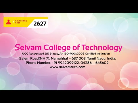 Selvam College of Technology video cover3