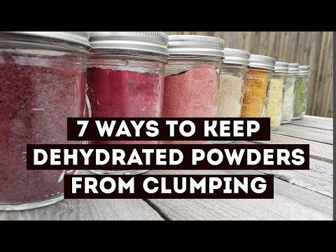 , title : 'How to Keep Dehydrated Powders Dry and Free From Clumping | Food Storage | Preserving