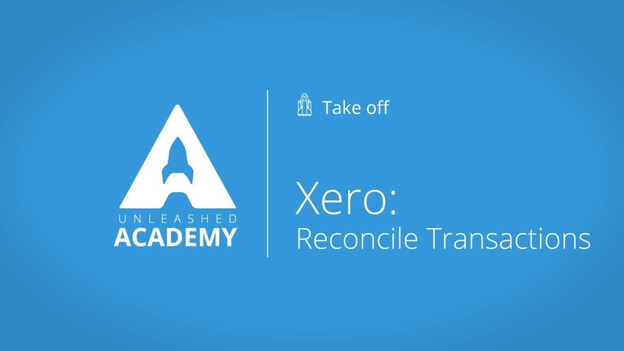 Xero: Reconcile Transactions YouTube thumbnail image