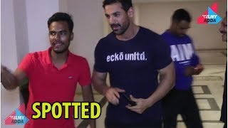 SPOTTED! John Abraham At Karan Johar's House At Versova #FILMYADDA