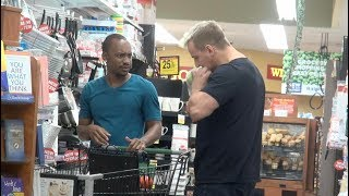 Eating Out Of Strangers Shopping Carts Prank!