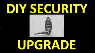 DIY: Manual Garage Door Security Upgrade!  Cheap Trick - Quick Fix