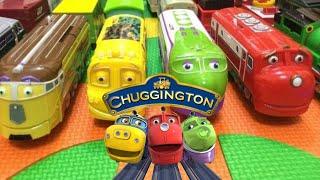 【trem brinquedo movido】14 trens Chuggington com Inglês Crianças Canções (01041 z pt)
