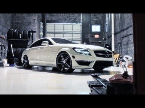 "Mercedes Benz CLS63 AMG on 20"" Vossen VVS-CV5 Concave Wheels / Rims"