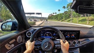 2021 Mercedes AMG E63 S 4Matic+ POV Drive (3D Audio)(ASMR) by MilesPerHr