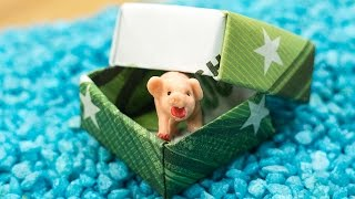 Money Origami Gift Box - How To Fold A Diy Money Box 🎁